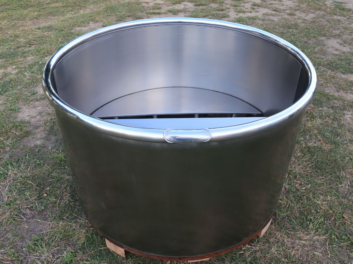 Nordic bath private use, Stainless steel Hot tub, installation bain nordique storvatt, installation bain nordique, installation spa