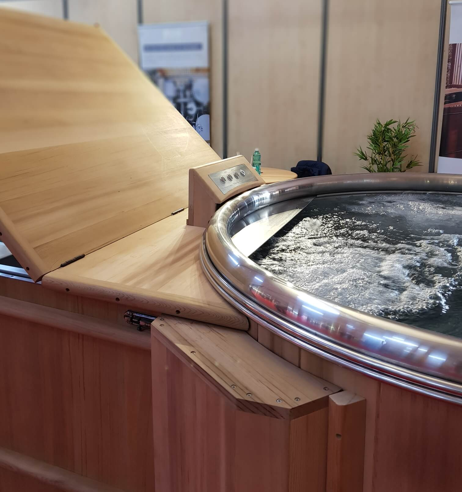 Stainless steel Hot tub, installation bain nordique storvatt, installation bain nordique, installation spa